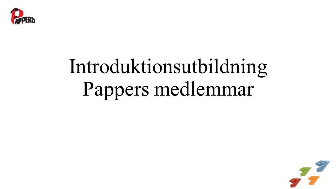 Introduktionsutbildning Pappers medlemmar