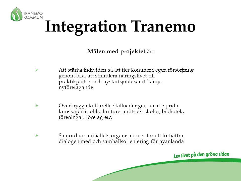 Målen med projektet är:  Att stärka individen så att fler kommer i egen försörjning genom bl.a.