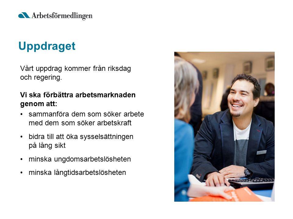 Uppdraget sammanföra dem som söker arbete med dem som söker arbetskraft bidra till att öka sysselsättningen på lång sikt minska ungdomsarbetslösheten