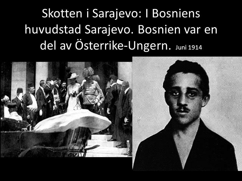 Skotten i Sarajevo: I Bosniens huvudstad Sarajevo.