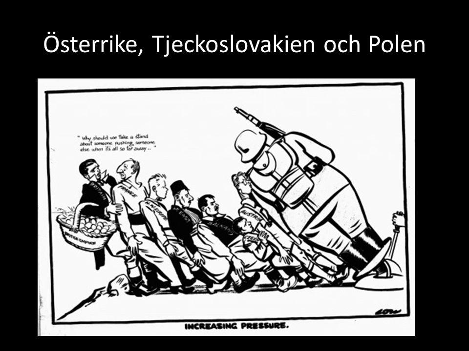 Österrike, Tjeckoslovakien och Polen