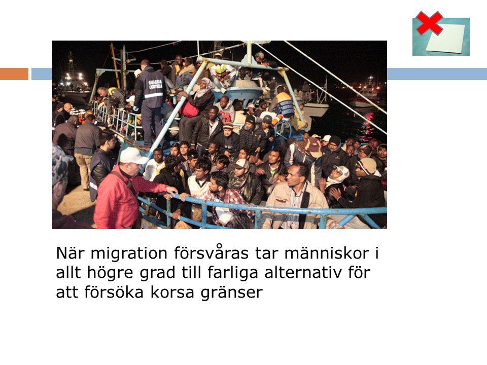 När migration försvåras tar människor i allt högre grad till farliga alternativ för att försöka korsa gränser