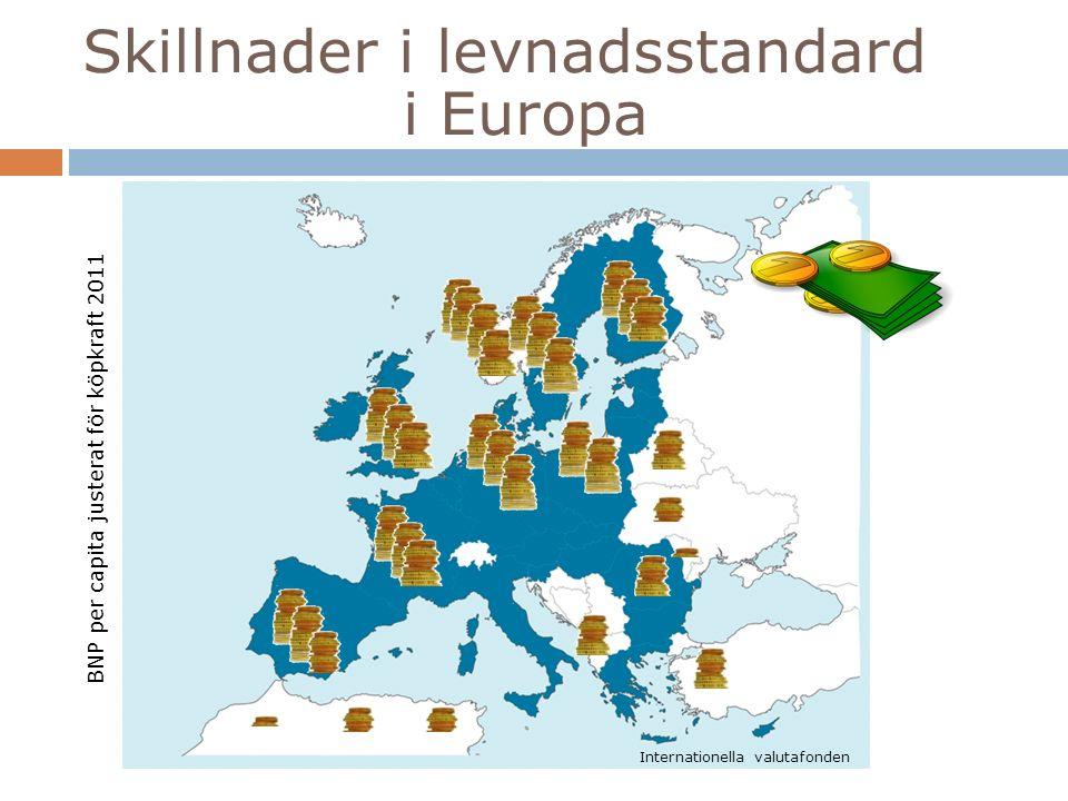 Andelen utländska medborgare Källa: Eurostat 2014