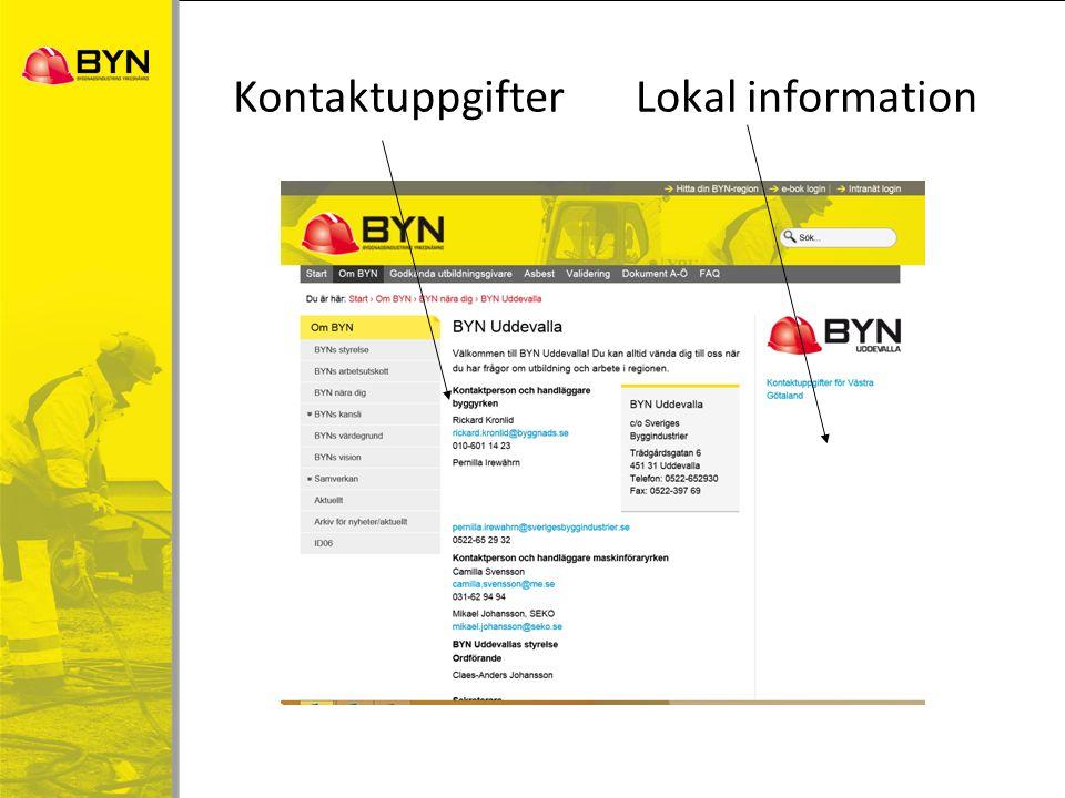 KontaktuppgifterLokal information
