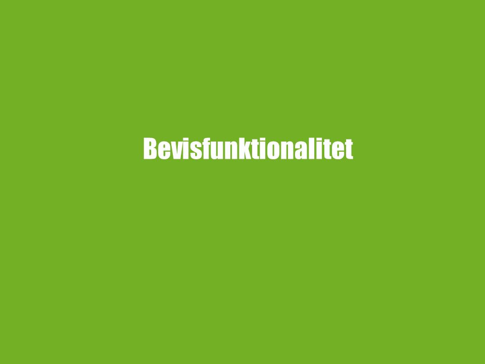 Bevisfunktionalitet