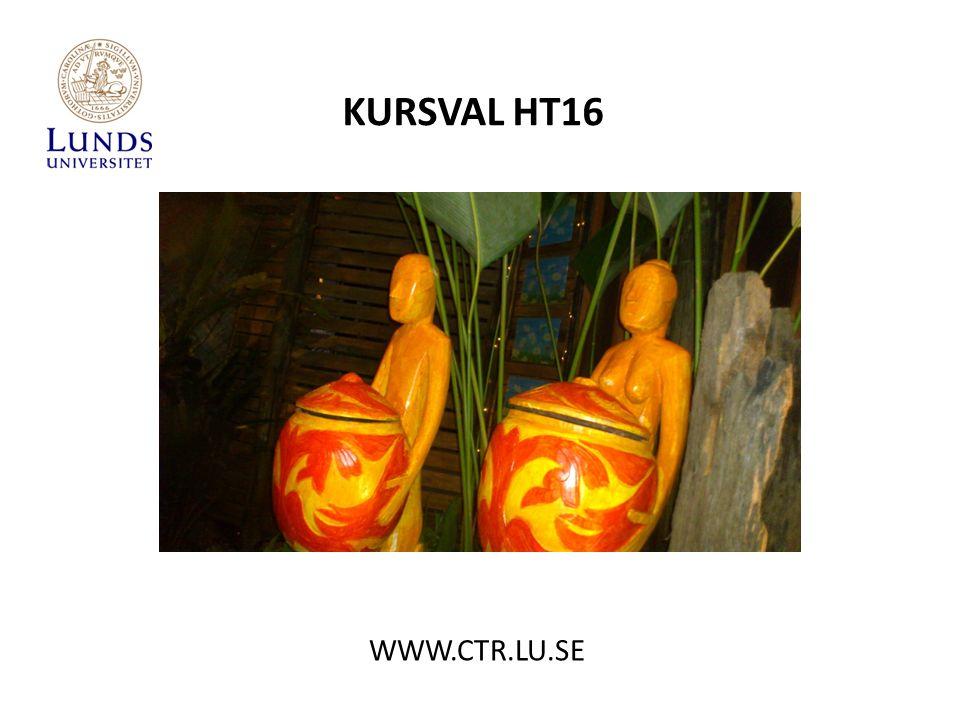 KURSVAL HT16 WWW.CTR.LU.SE