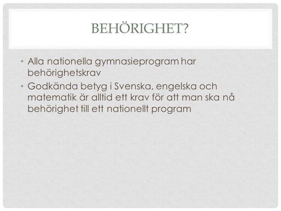 BEHÖRIGHET.