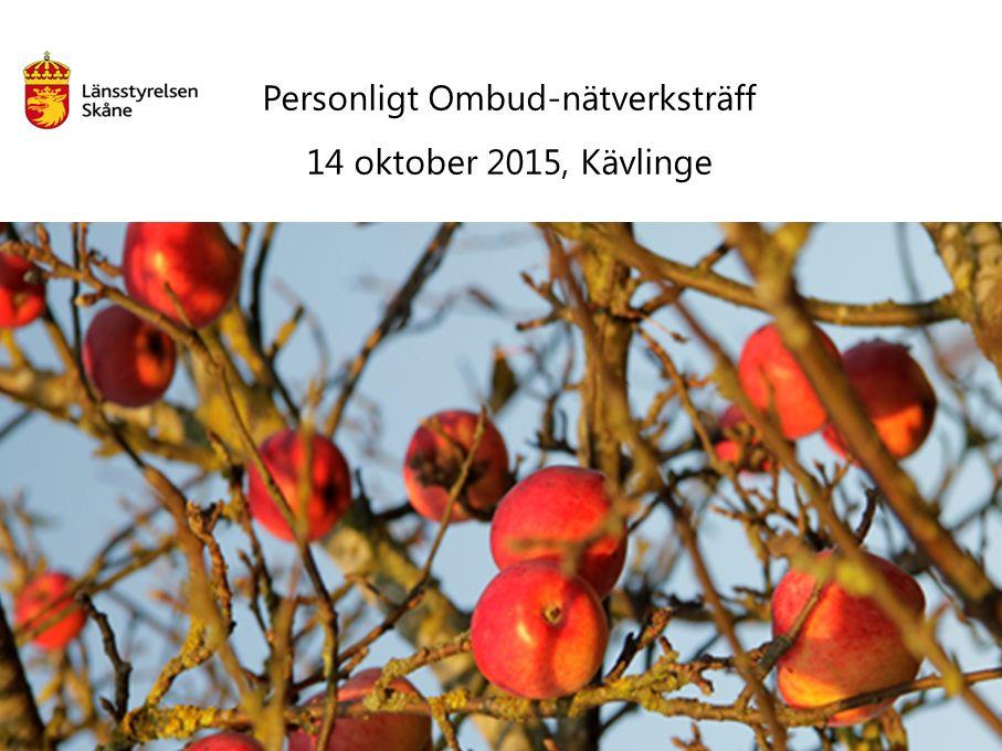 Personligt Ombud-nätverksträff 14 oktober 2015, Kävlinge