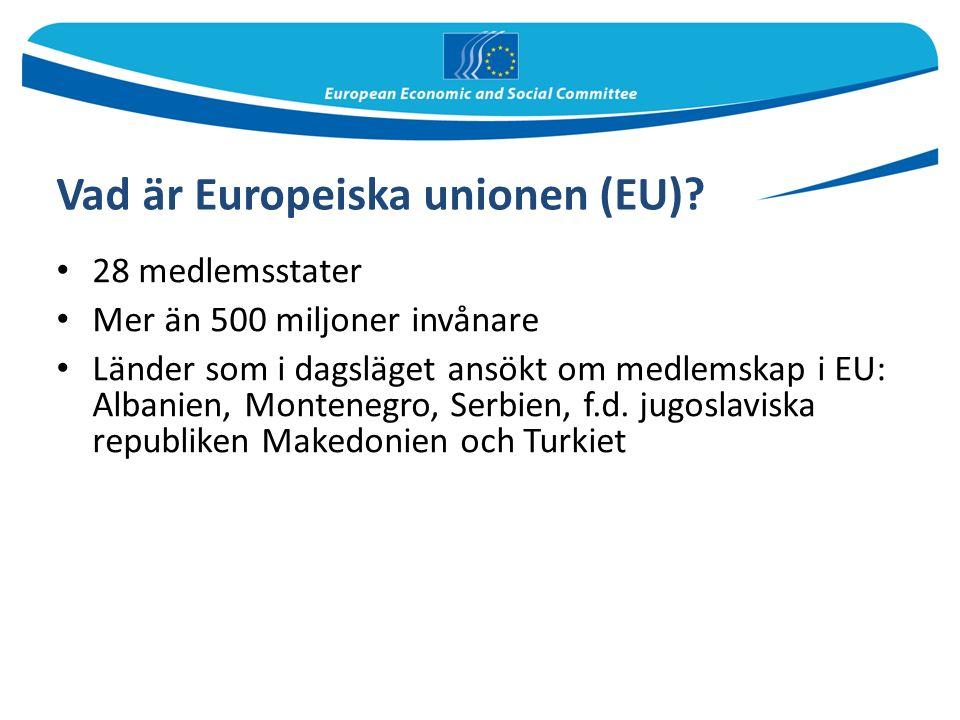 Vad är Europeiska unionen (EU).