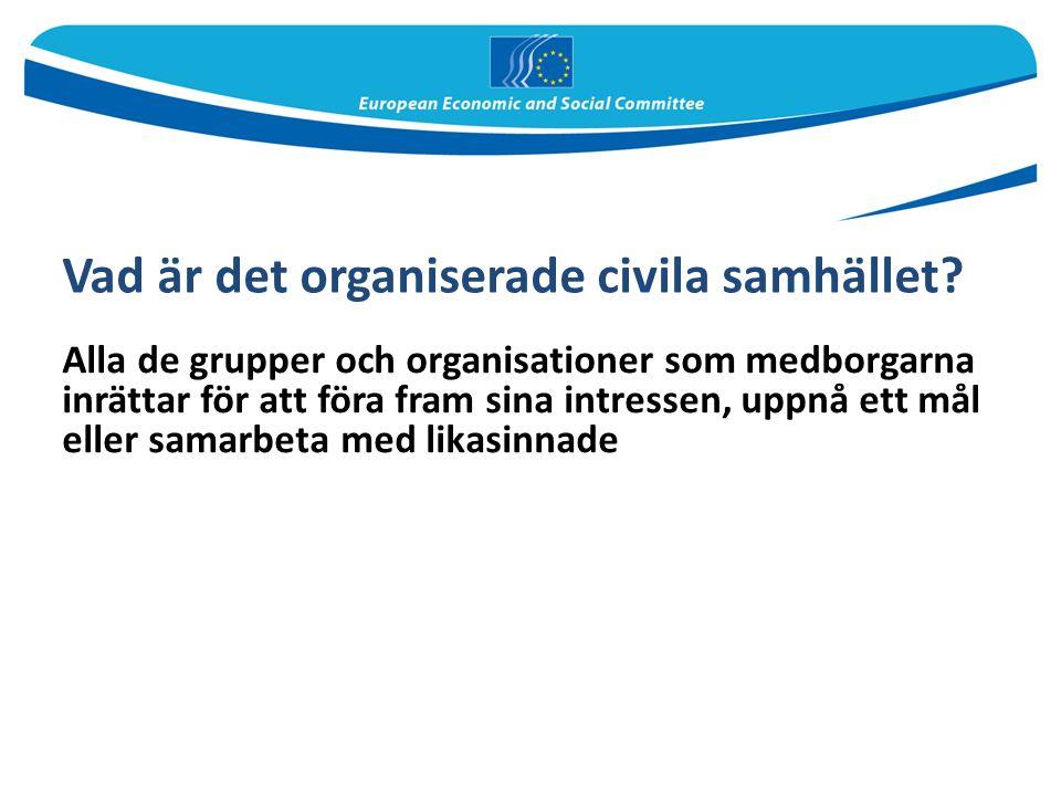 Vad är det organiserade civila samhället.