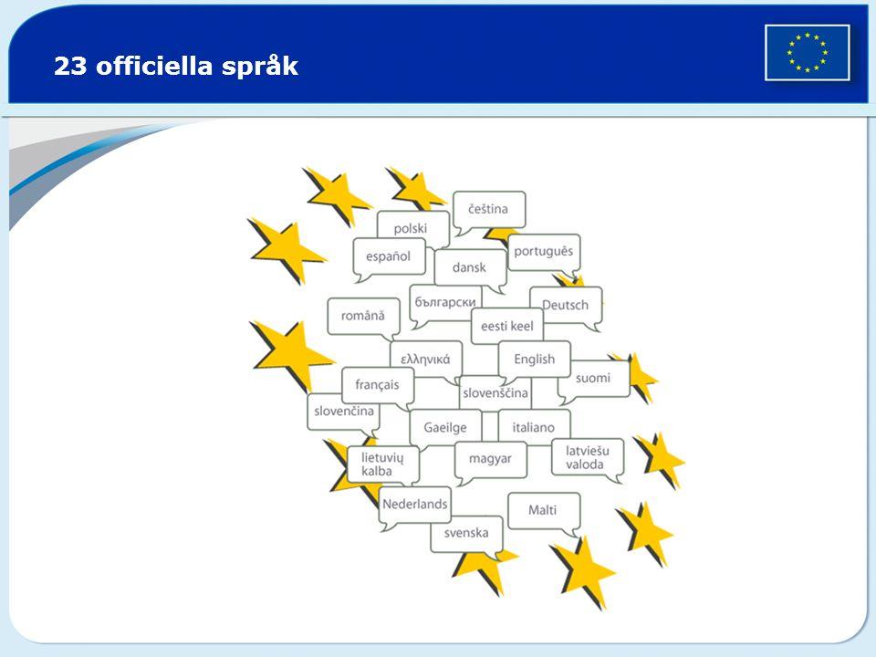 23 officiella språk