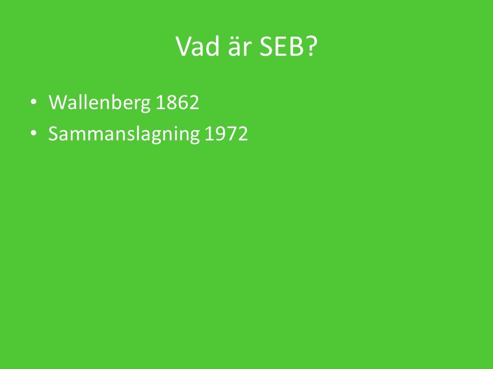 Vad är SEB Wallenberg 1862 Sammanslagning 1972