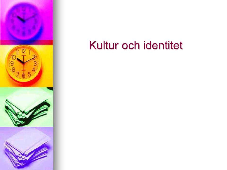 Kultur och identitet