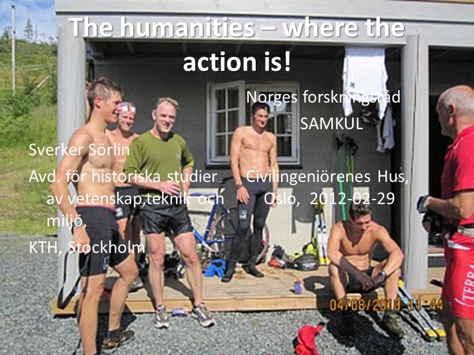 What can humanities do…?