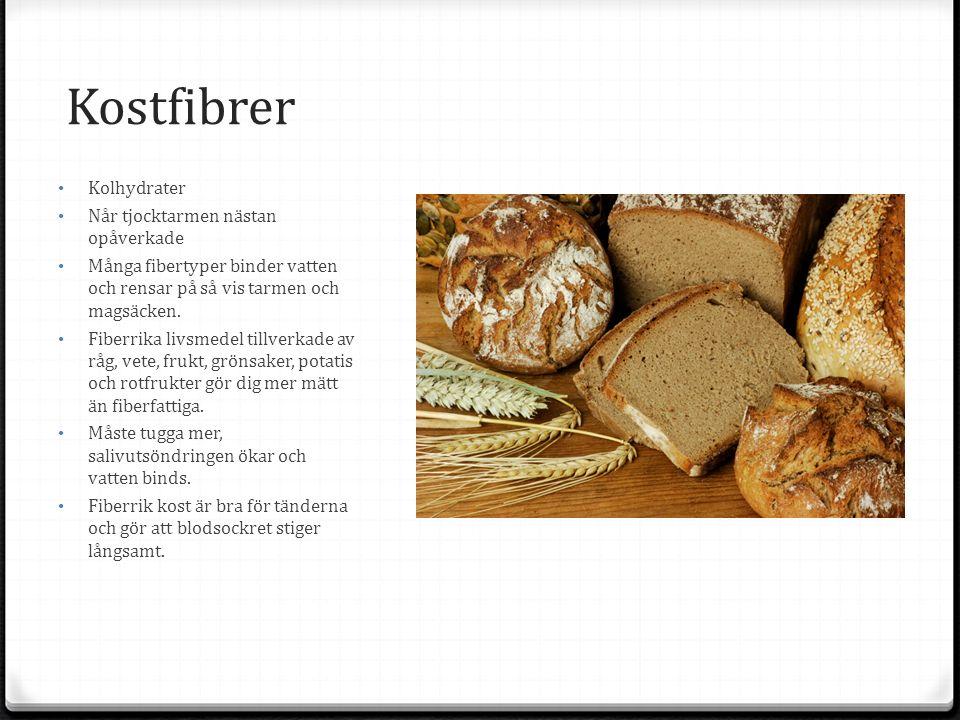 Kostfibrer Kolhydrater Når tjocktarmen nästan opåverkade Många fibertyper binder vatten och rensar på så vis tarmen och magsäcken.