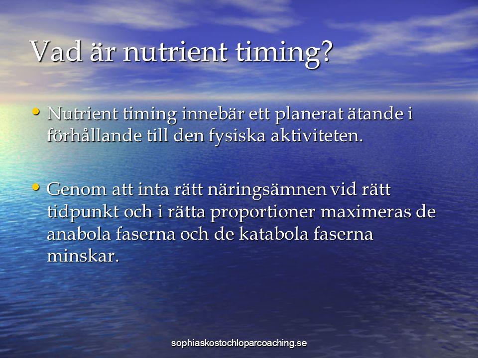 Vad är nutrient timing.