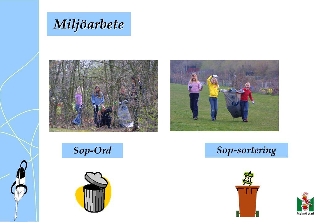 Miljöarbete Sop-Ord Sop-sortering