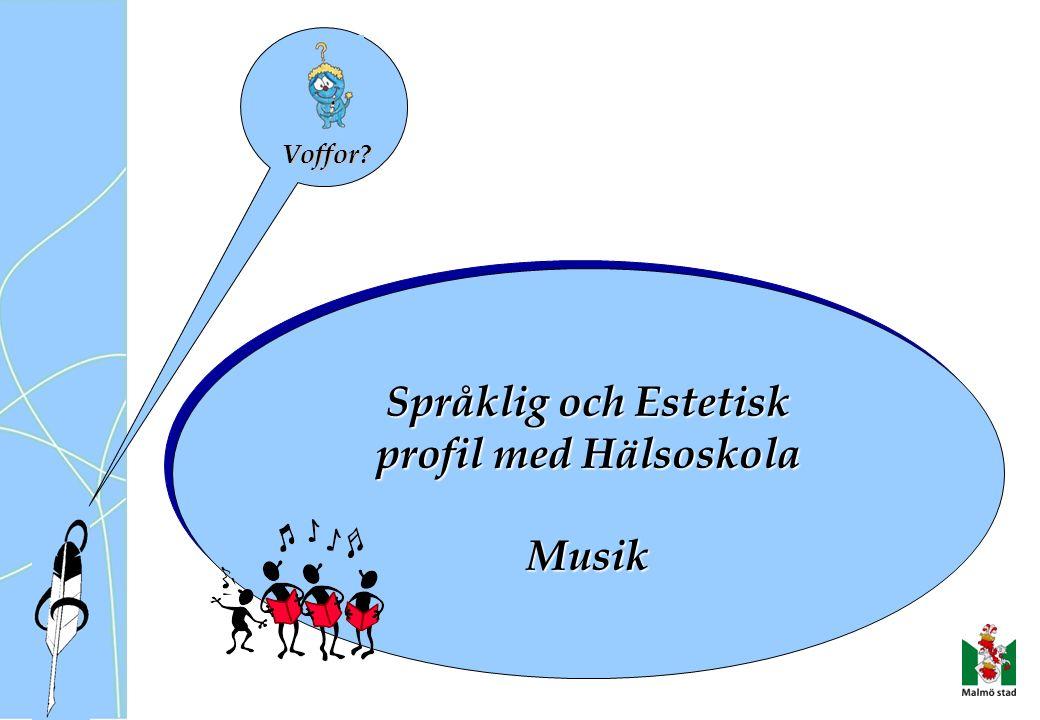 Språklig och Estetisk profil med Hälsoskola Musik Språklig och Estetisk profil med Hälsoskola Musik Voffor?