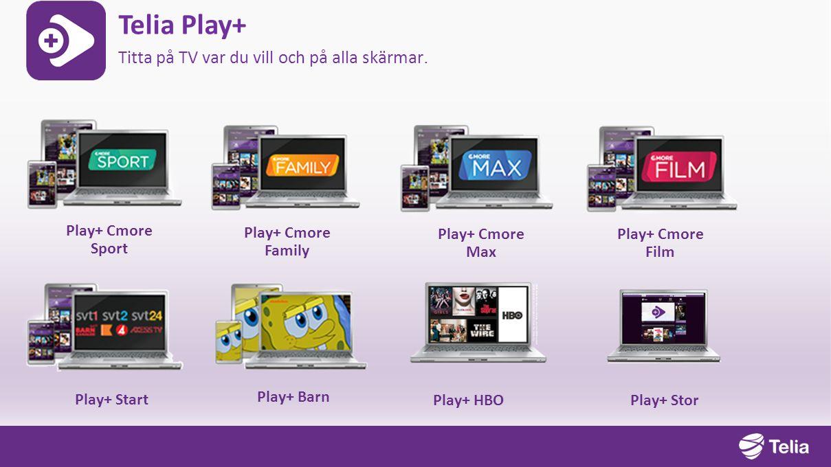 Telia Play+ Titta på TV var du vill och på alla skärmar.