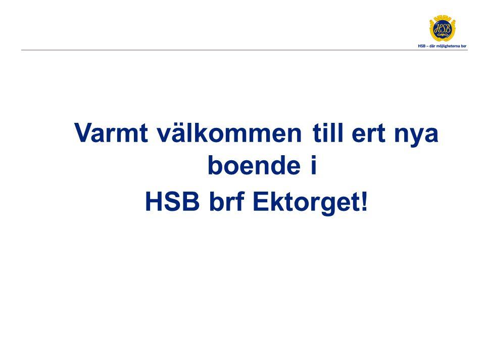 Varmt välkommen till ert nya boende i HSB brf Ektorget!