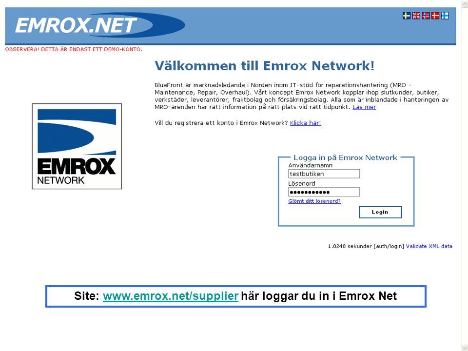 2) Skapa nytt Serviceärende till verkstad klicka på Ny order 1)Logga in som användare – se mail för inloggningsuppgifter 1 2