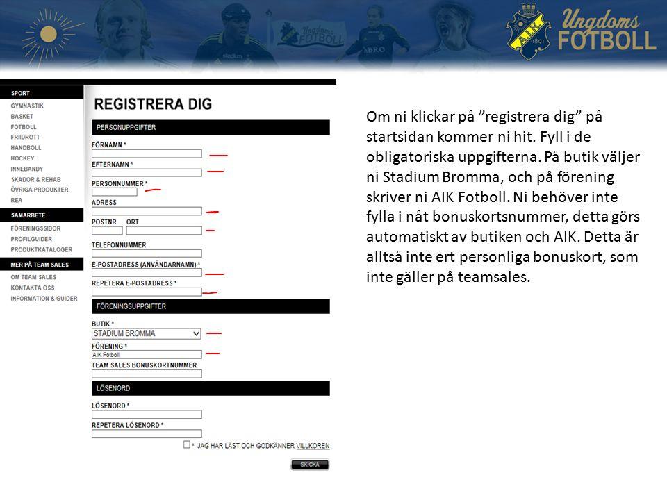 Om ni klickar på registrera dig på startsidan kommer ni hit.