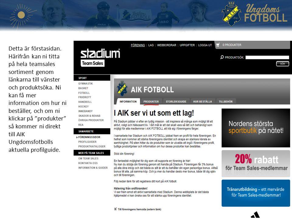 Hädanefter fungerar hemsidan som en vanlig webbshop.