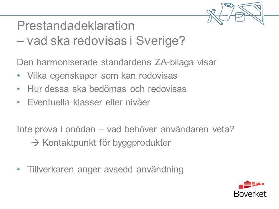 Prestandadeklaration – vad ska redovisas i Sverige.