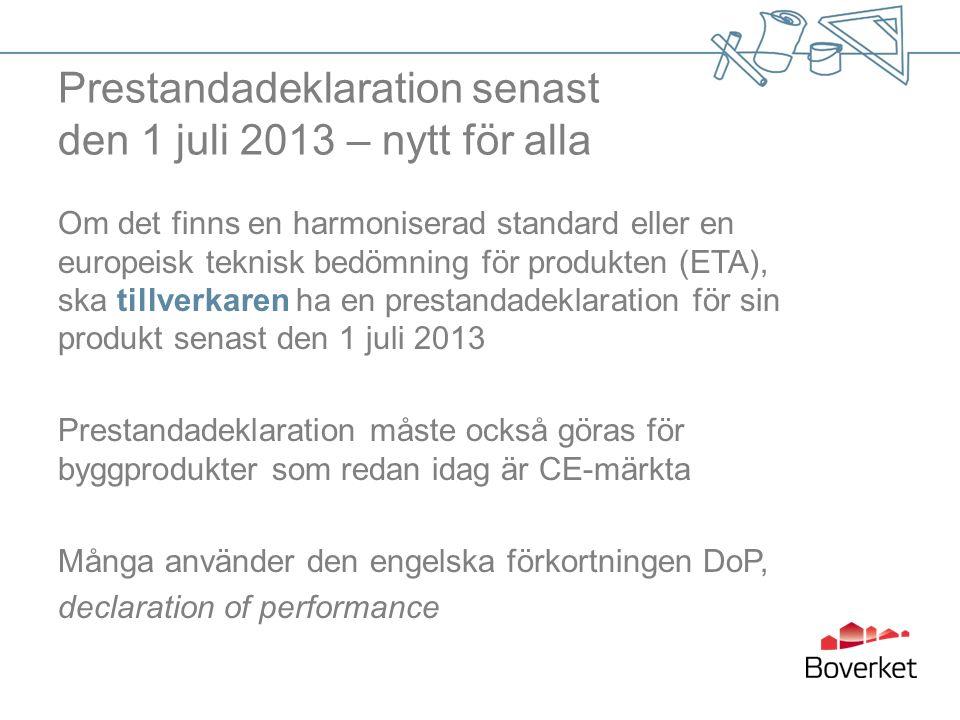 120504Sida 27 Exempel: harmoniserade standarder inom träområdet