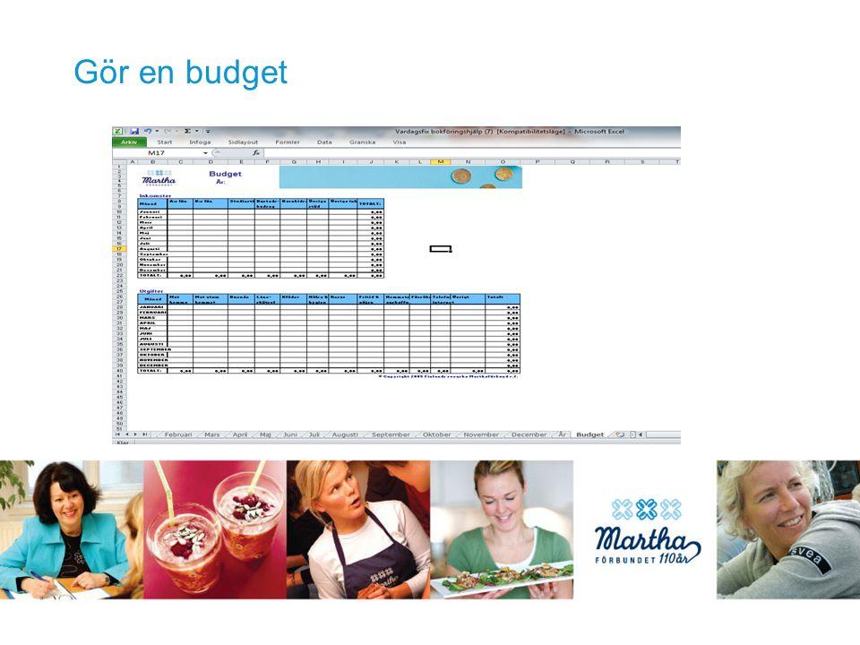 Gör en budget