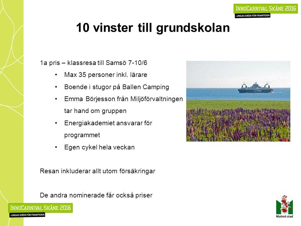 10 vinster till grundskolan 1a pris – klassresa till Samsö 7-10/6 Max 35 personer inkl.