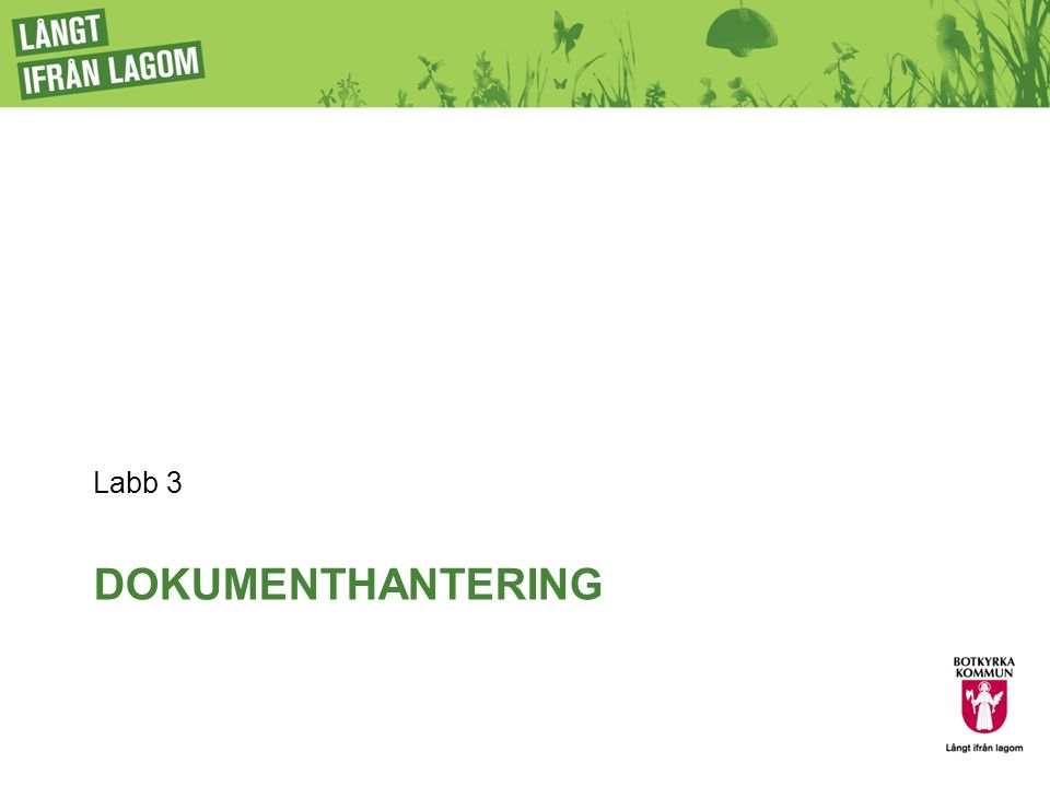 DOKUMENTHANTERING Labb 3