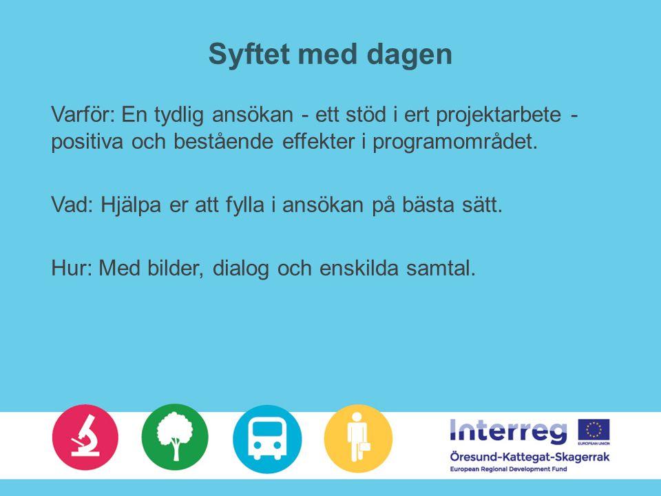 Avslutning… Kom ihåg: …ger stöd till gemensamma skandinaviska projekt som utvecklar samhället inom innovation, grön ekonomi, transport och sysselsättning. Detta är komplext, men inte omöjligt Lägg tid på att ta fram en bra och förankrad budget.