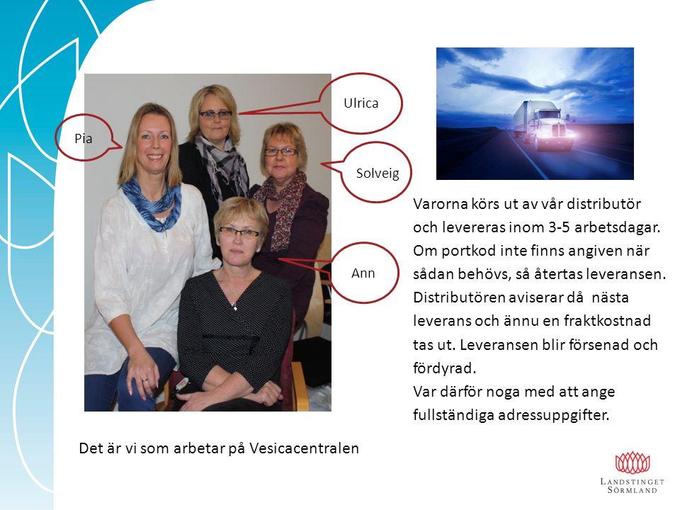 Pia Ann Solveig Ulrica Varorna körs ut av vår distributör och levereras inom 3-5 arbetsdagar. Om portkod inte finns angiven när sådan behövs, så återt