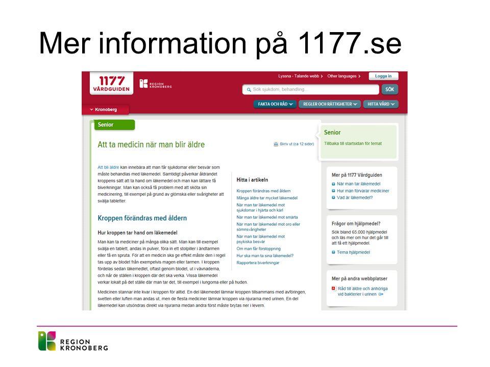 Mer information på 1177.se