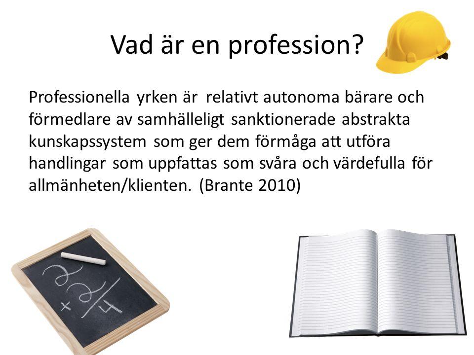 Vad är en profession.