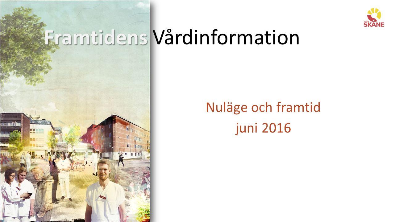 Framtidens Framtidens Vårdinformation Nuläge och framtid juni 2016