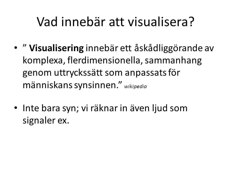 Vad innebär att visualisera.