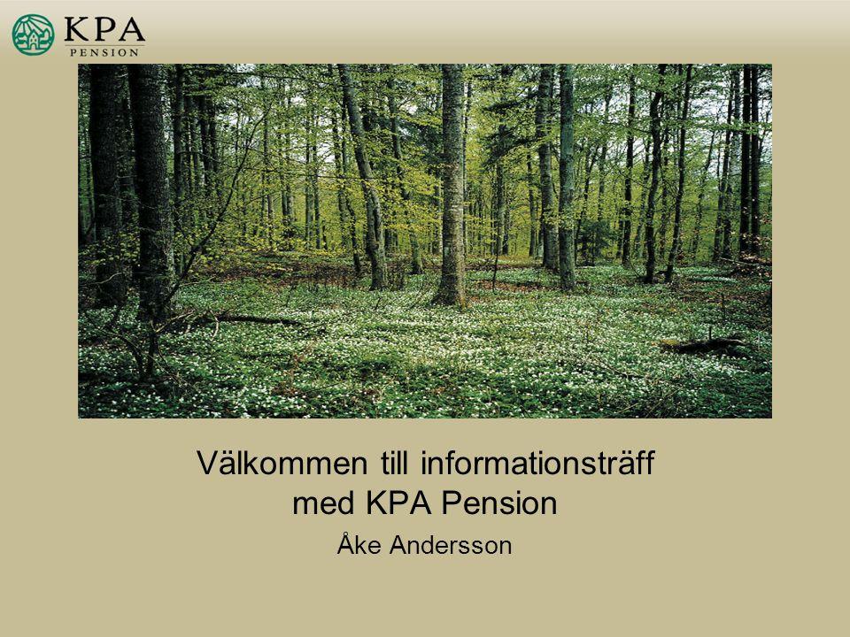 Välkommen till informationsträff med KPA Pension Åke Andersson
