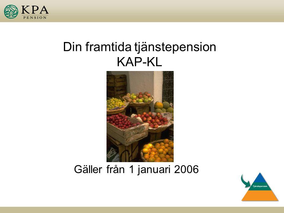 Din framtida tjänstepension KAP-KL Gäller från 1 januari 2006