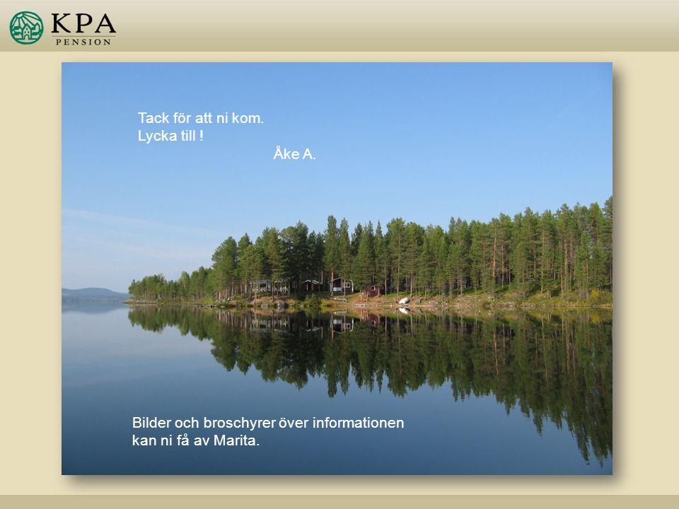 Bilder och broschyrer över informationen kan ni få av Marita.