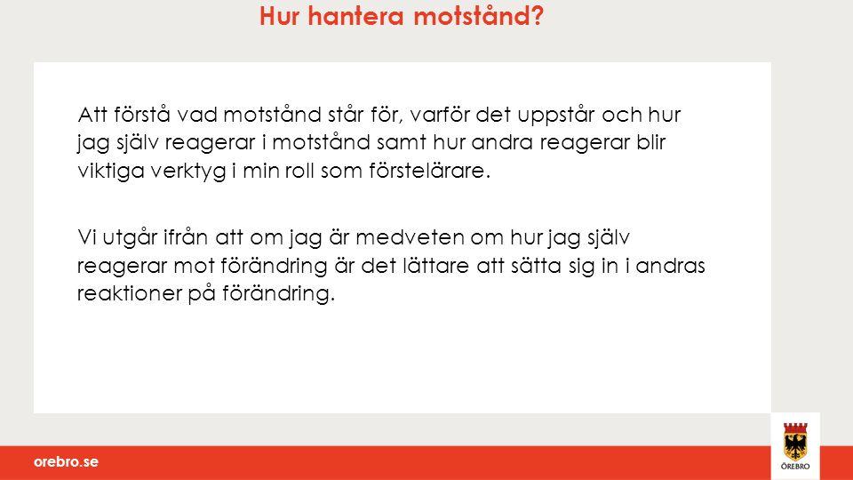 orebro.se Värdegrund Värdegrund är ett prioriterat område och där fortgår arbetet veckovis och vid större samlingar .