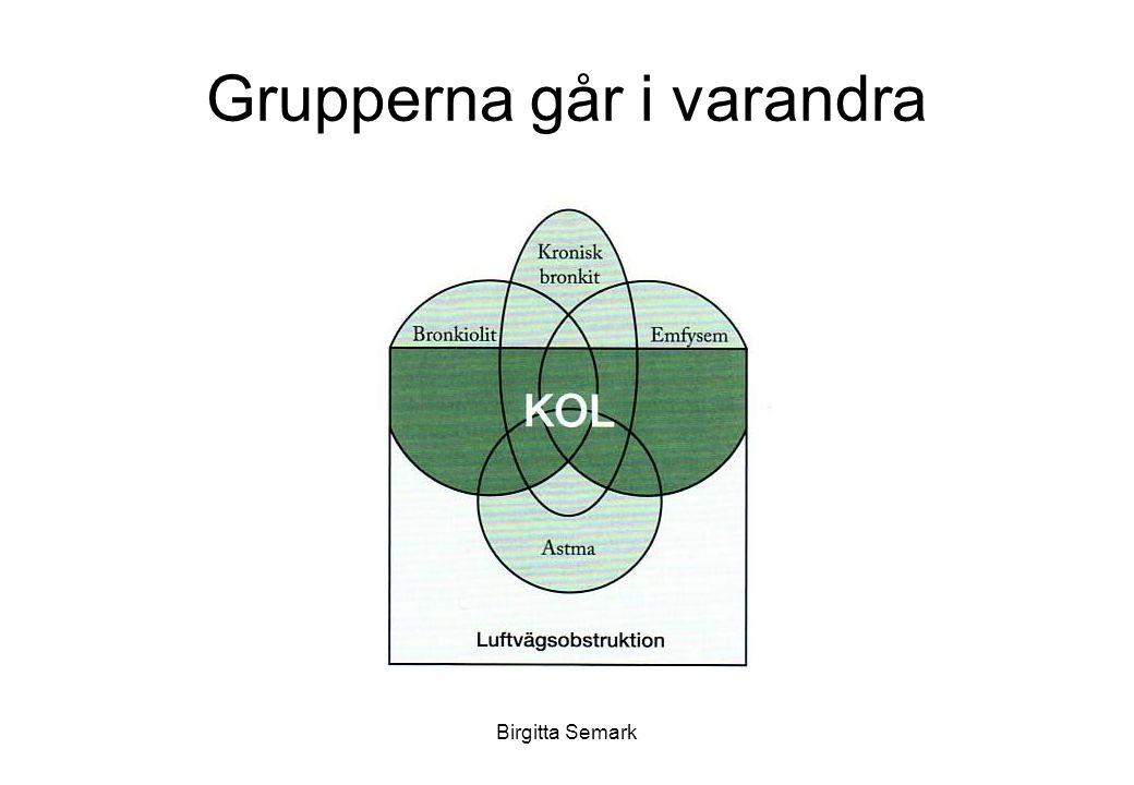 Birgitta Semark Diffussionskapaciteten Diffussionkapaciteten är ett mycket bra mått på gasutbytet.