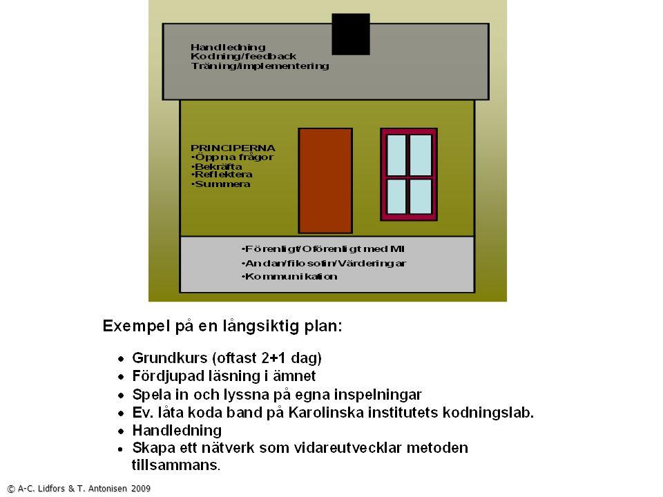 © A-C. Lidfors & T. Antonisen 2009