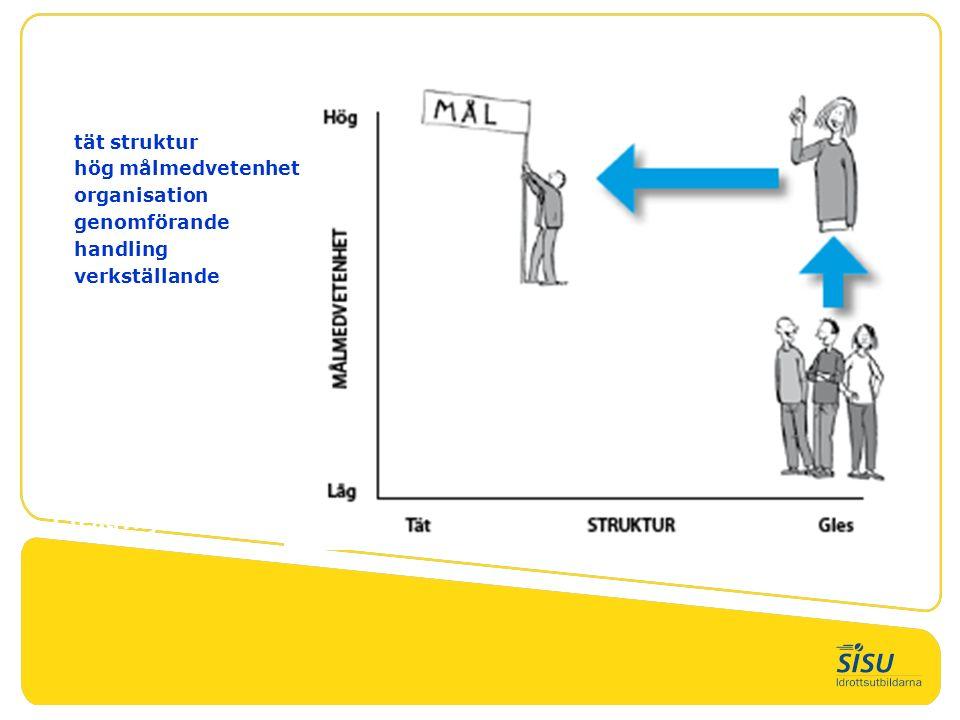 Creativity tät struktur hög målmedvetenhet organisation genomförande handling verkställande