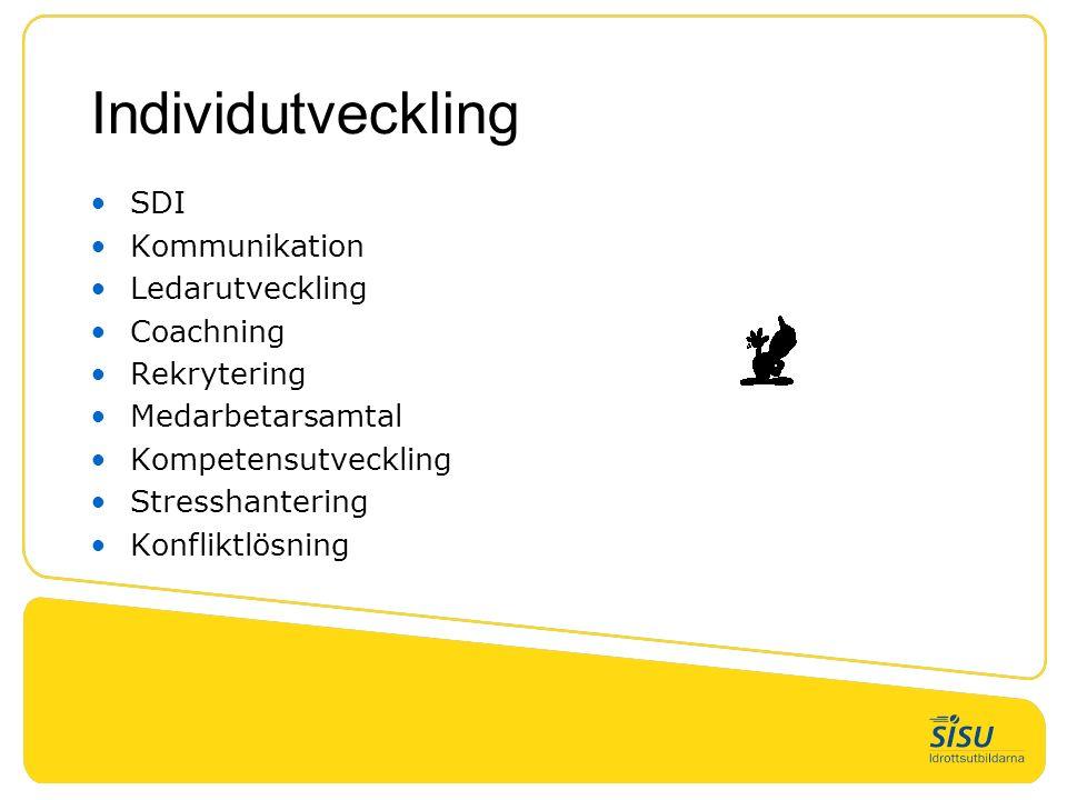 Individutveckling SDI Kommunikation Ledarutveckling Coachning Rekrytering Medarbetarsamtal Kompetensutveckling Stresshantering Konfliktlösning