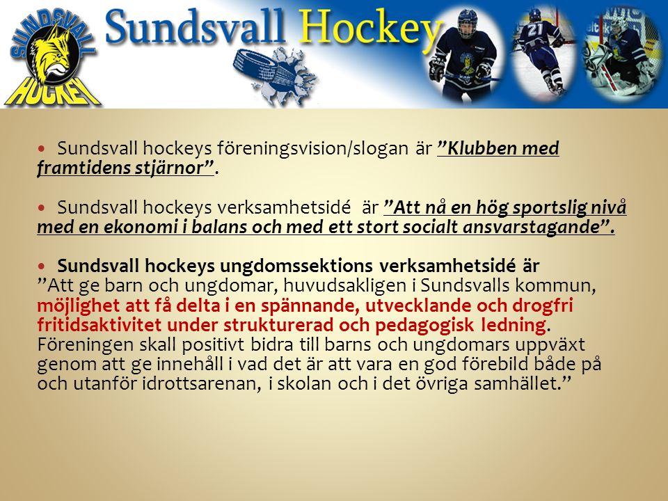 Sundsvall hockeys föreningsvision/slogan är Klubben med framtidens stjärnor .