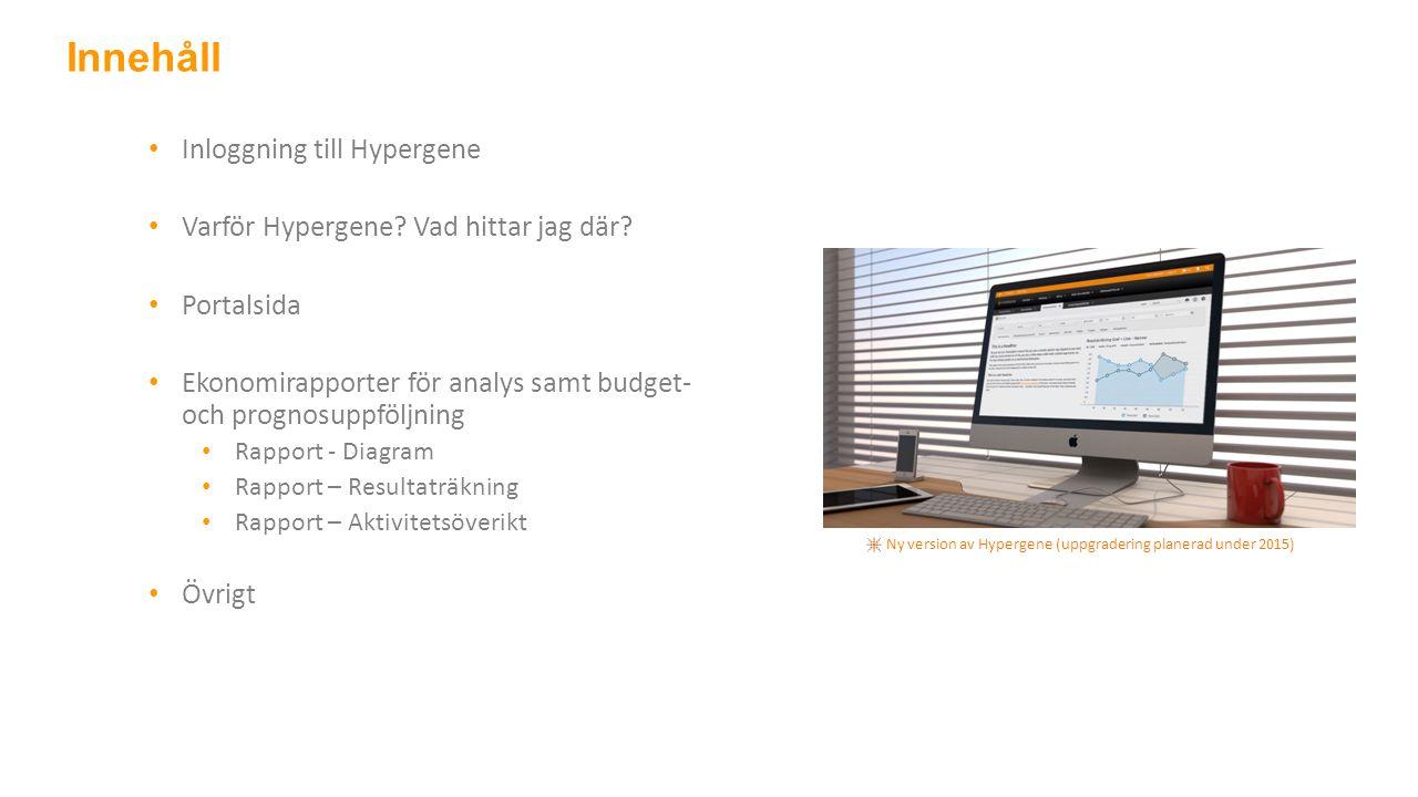 Inloggning till Hypergene Varför Hypergene. Vad hittar jag där.