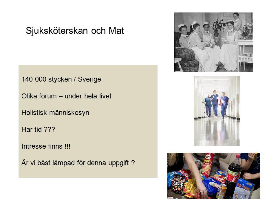 Sjuksköterskan och Mat 140 000 stycken / Sverige Olika forum – under hela livet Holistisk människosyn Har tid .