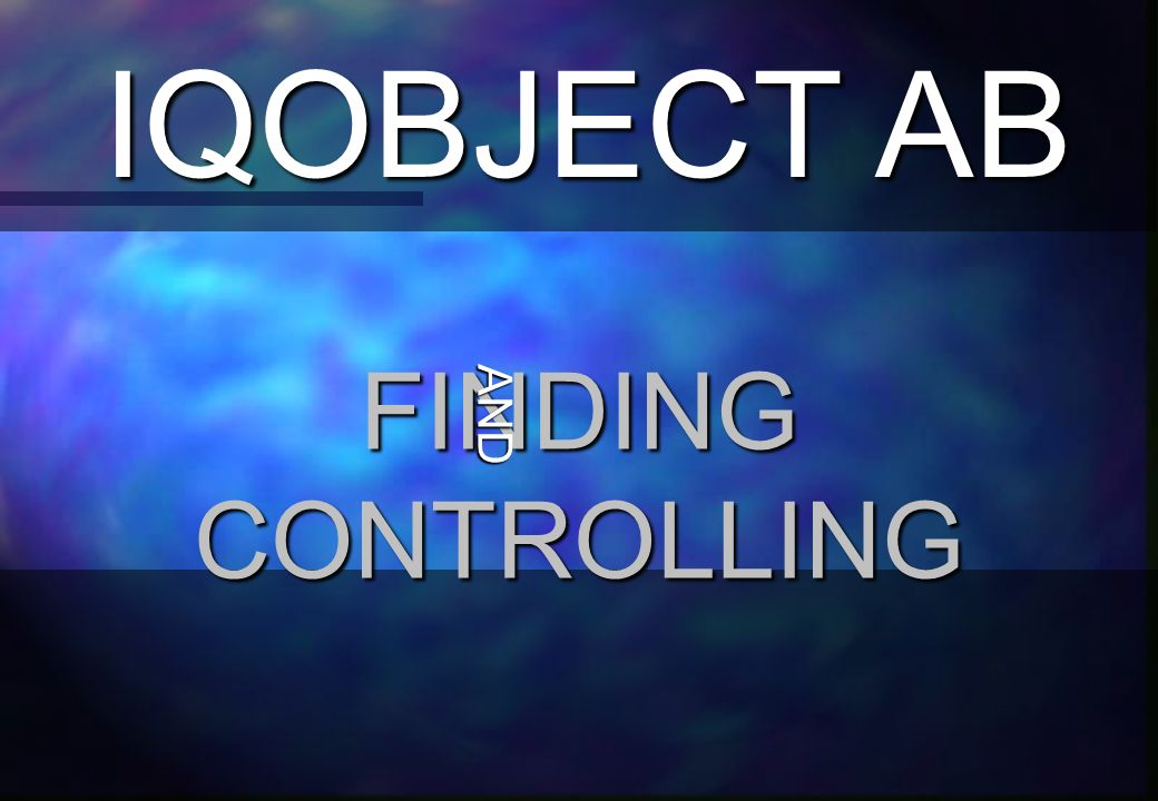 IQOBJECT AB FINDING CONTROLLING AND